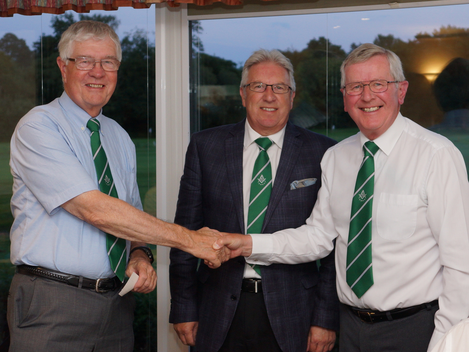 WBros David Purdie & Peter Perryman 3rd place and a cheque for charity at Devon Masonic Golf Association's Autumn Meeting