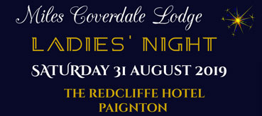 Miles Coverdale Ladies Night Blog image small