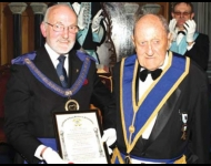 W. Bro. John Harmer Saunders celebrates 60 years in Freemasonry